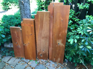 COLLECTION OF 12  SOLID PINE SHELVING ..VARIOUS SIES