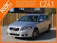 2012 Volvo V50 2.0 D3 Turbo Diesel SE LUX Geartronic 6 Speed Auto Estate Sat Nav
