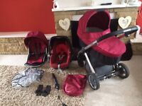 Oyster travel system pram stroller buggy carrycot car seat maxi Cosi pebble ect