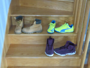 Shoes Jordans, Pumas and Timberlands