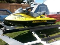 2001 rdxi 951cc seadoo and double trailer