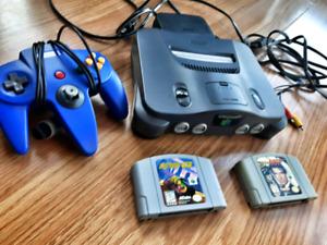 Nintendo 64 avec 1 manette bleu, Goldeneye 007 & Extreme G