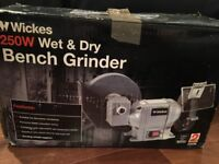 Wickes 250w wet and dry bench grinder