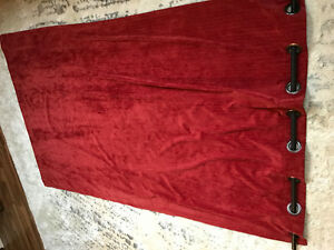 Red curtains - EXCELLENT CONDITION - OBO