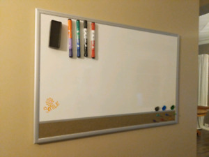 White board with markers