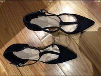Carvella Kurt Geiger Suede Black Shoes Size 39EUR- 6UK RRP £120