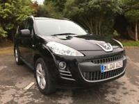 2008 PEUGEOT 4007 GT 2.2 DIESEL 4X4 7 SEATER IN BLACK WITH BLACK LEATHER
