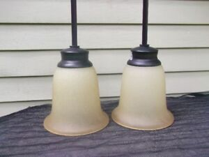 TWO MATCHING PENDANT LIGHTS FOR SALE