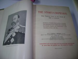 ANTIQUE BOOK - THE STORY OF THE CANADIAN PEOPLE