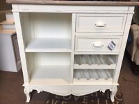 Shabby Chic Wine Rack / Sideboard - New - CAN DELIVER