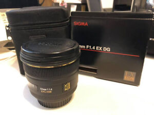 Sigma 50mm 1.4 DG HSM for Canon EOS