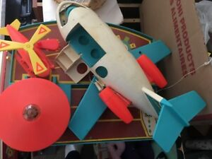 Vintage Fisher Price Airport, Television, Record Player