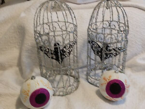Large bird cages with bats