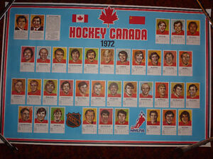1972 Team Canada poster-The Summit Series Kitchener / Waterloo Kitchener Area image 2