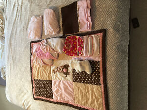 Crib set, mattress, baby towels, safety locks/latches and more!