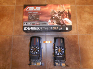 AMD ASUS EAH6850 video cards (x2) Crossfire