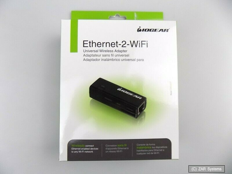 Iogear Ethernet-2-Wifi Universal Wireless Adapter, Gwu637,Black