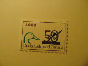 1988 Ducks Unlimited Canada plus Conservation stamp 50yrs London Ontario image 7