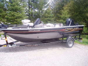 2008 Crestliner Fish Hawk loaded with extras