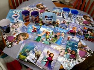 Frozen party , over 40 items 3 large prints 16in X 16 in