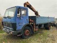 Left Hand drive, Mercedes Benz 1217 Flatbed, crane lorry, Man pump & Injectors