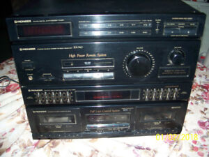 PIONEER RX-740 STEREO DOUBLE CASSETTE DECK RECEIVER
