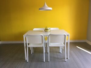 IKEA Kitchen table set with 4 chairs like new!