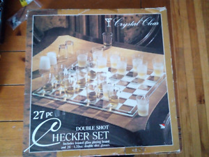 27 piece shot glass chess brand new