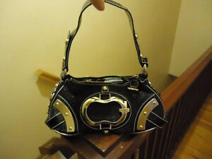 Black and Silver Women's Guess Purse