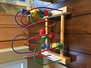 Wooden baby abacus in St Thomas