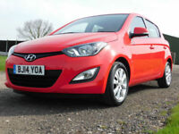 2014 HYUNDAI i20 1.2 Active 5 DOOR**LOW MILES**FSH**£30 ROAD TAX**£6450