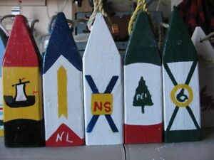 Trap Buoys in Provincial Flag Colors