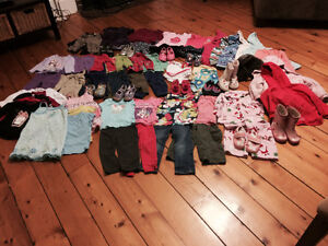 Over 60 piece lot of clothing 3T