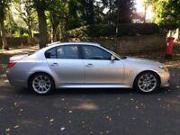 2007 07 BMW 535D M SPORT A LCI FACELIFT SALOON AUTO TITAN SILVER BLACK LEATHERS