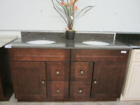 "60"" 72"" 75"" solid wood vanity"