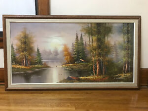 Forest/Cottage Painting