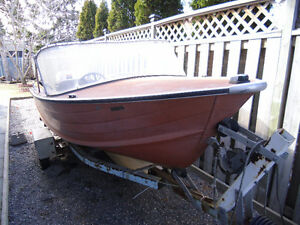 16 ft Starcraft aluminum boat motor and trailer