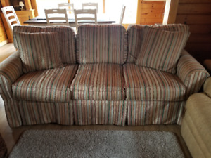 Two three seat Thomasville sofas available in great condition.