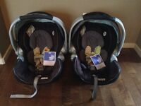 Double snap and go stroller with bucket seats/bases