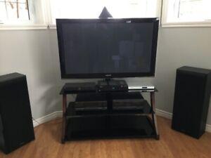 Ensemble TV 55 pouces et systeme de son