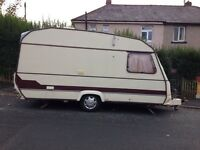 4 berth caravan with full size awning