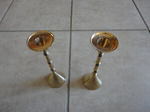Set of 2 solid brass candlestick holder stand brand new London Ontario image 3