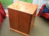 Pine filing cabinet