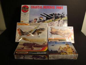 Defence Fort and Planes Model Kits - Various Brands