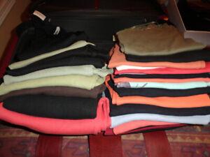 Women's Knit Tops - 3/4 Sleeve & Sleeveless - Large & Medium