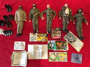 Vintage 12 inch GI Joe figures and accessories