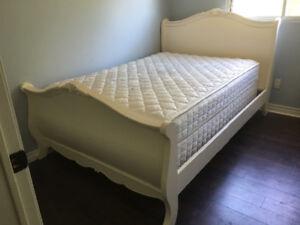 Double bed headboard footboard side rails