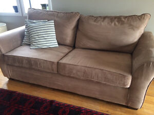 Couch (Micro Suede - Hide a bed)