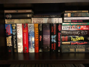 Looking for Stephen King hardcovers.