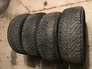 205/65R15 Goodyear Nordic winter tires.